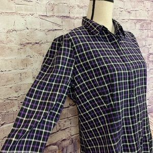 Chaps Tops - Chaps Plaid Buttoned Front Long Sleeve Shirt